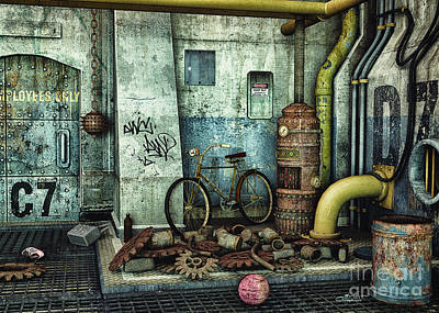 Shoe Digital Art - Dark Places Tell Stories by Jutta Maria Pusl