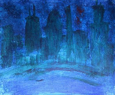 Sex Change Painting - Dark Progressive Twisted And Warped Chicago In Blue And Green And Magenta Gay Lesbian Trans Surgery by ImQueer AndLoveIt