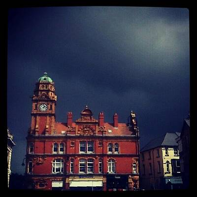 Victorian Wall Art - Photograph - #dark #rain #clouds Over #newtown by Alexandra Cook