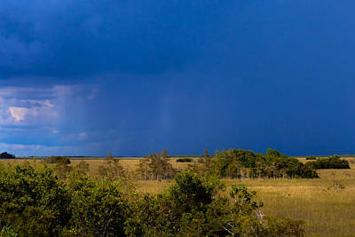Photograph - Dark Storm Over The Everglades by Ed Gleichman