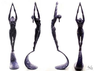 Dark Violet Matter Composite Of Several Views Art Print