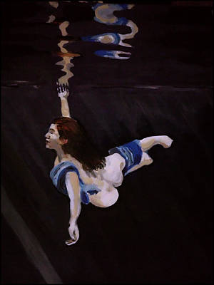 Painting - Dark Water Dive by Adam Kissel