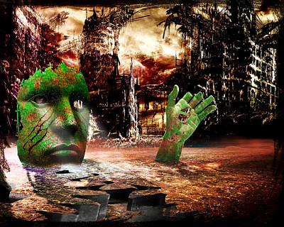 Dark Worlds 2 Art Print by Wendy White
