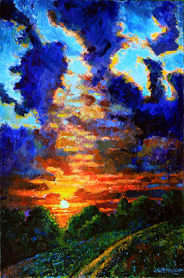 Painting - Darkness Closing In by John Lautermilch
