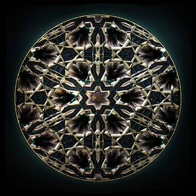 Lighting Effect Digital Art - Darksilvercyan by Li   van Saathoff