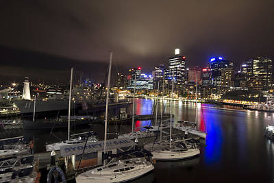 Sydney Skyline Photograph - Darling Harbor Sydney Skyline 2 by Douglas Barnard