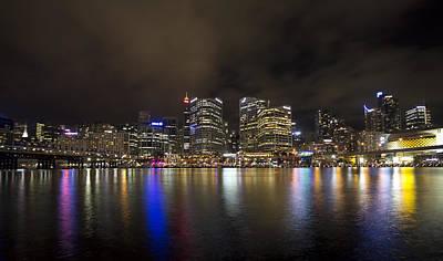 Darling Harbor Sydney Skyline Art Print