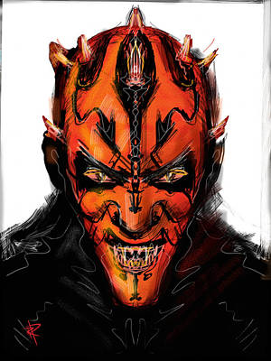 Mixed Media - Darth Maul by Russell Pierce
