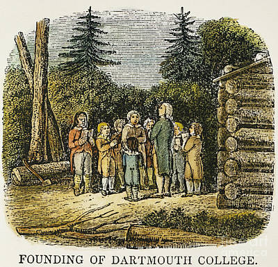 Dartmouth College, 1770 Art Print by Granger