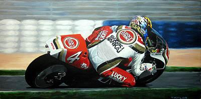 Daryl Beattie - Suzuki Motogp Art Print by Jeff Taylor