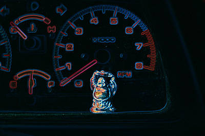 Vancouver Photograph - Dashboard Buddha by Travis Crockart