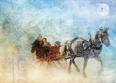 Dashing Through The Snow  Art Print