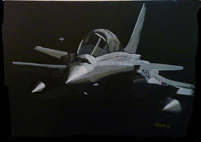 Painting - Dassault Rafale by Richard Le Page
