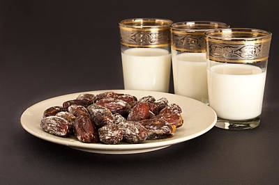 Dates And Milk Art Print
