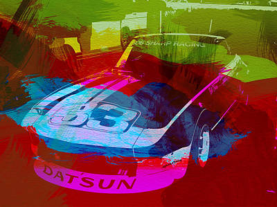 Racing Car Digital Art - Datsun by Naxart Studio