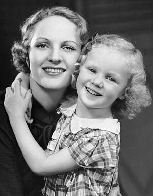 Woman With Cameras Photograph - Daughter W/ Arm Around Mother by George Marks