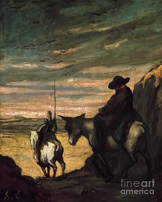 Photograph - Daumier: Quixote, 1866-68 by Granger