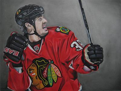 Fist Pump Drawing - Dave Bolland by Brian Schuster