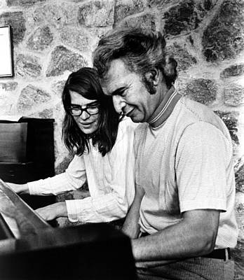 Jazz Pianist Photograph - Dave Brubeck And Son Chris Playing by Everett