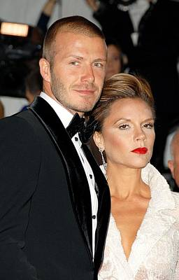 David Beckham And Victoria Beckham Art Print by Everett