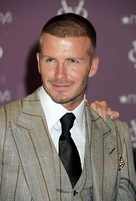 David Beckham At In-store Appearance Art Print