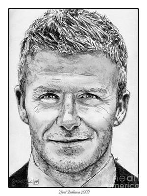 Drawing - David Beckham In 2009 by J McCombie