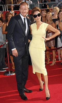 David Beckham, Victoria Beckham Wearing Art Print