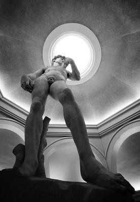 Statue Of David Photograph - David Black And White by Jessica Velasco