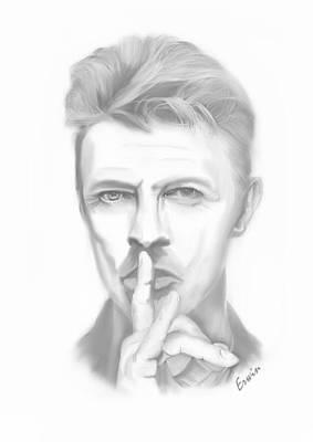 Ziggy Stardust Drawing - David Bowie by Erwin Verhoeven