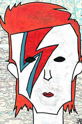 David Bowie Art Print by Jera Sky