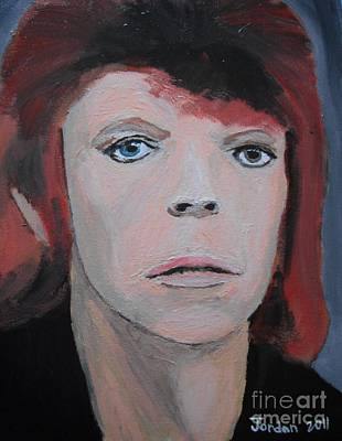 David Bowie The Early Years Art Print by Jeannie Atwater Jordan Allen