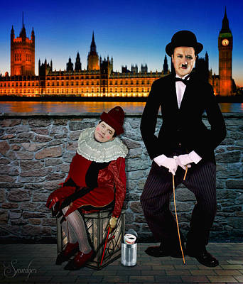 Political Mixed Media - David Cameron And Nick Clegg Comedy Duo by Eugene James