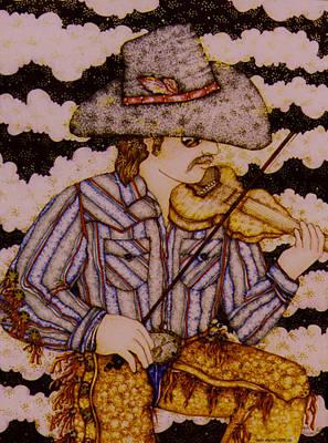 Music Paintings - David Carl Mayfield by Dede Shamel Davalos
