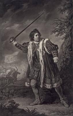 1750s Photograph - David Garrick 1717-1779, English Actor by Everett