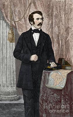 David Livingstone, Scottish Missionary Print by New York Public Library