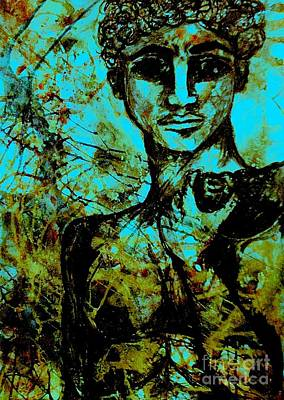 Art Print featuring the painting David Ll by Amy Sorrell