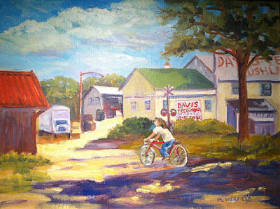 Feed Mill Painting - Davis Feed Mill by Miriam Warfield
