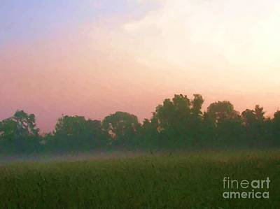 Digital Art - Dawn At Raintree Farm by Denise Dempsey Kane