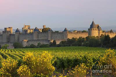 Dawn In Carcassonne Art Print by Brian Jannsen