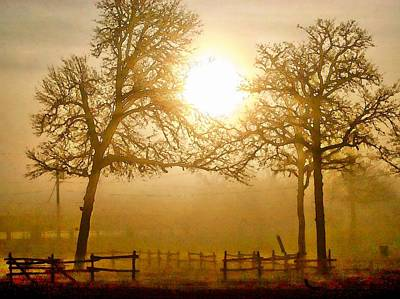 Dawn In The Country Art Print