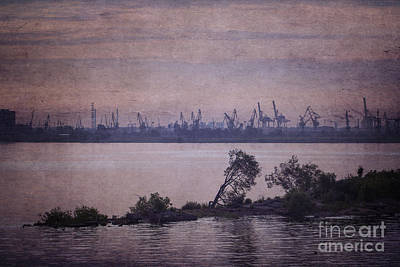 Photograph - Dawn On The River Neva In Russia by Clare Bambers