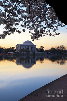 Photograph - Dawn Over Jefferson Memorial by Brian Jannsen