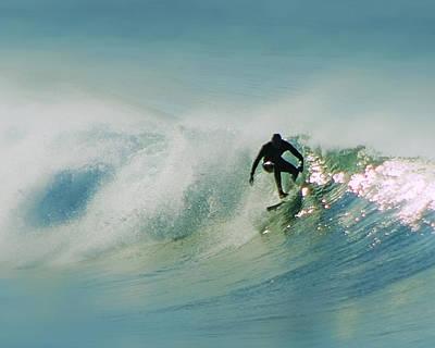 Dawn Surfer Art Print by David Rearwin