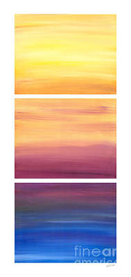 Painting - Dawning Colors Triptych by Kristen Fox