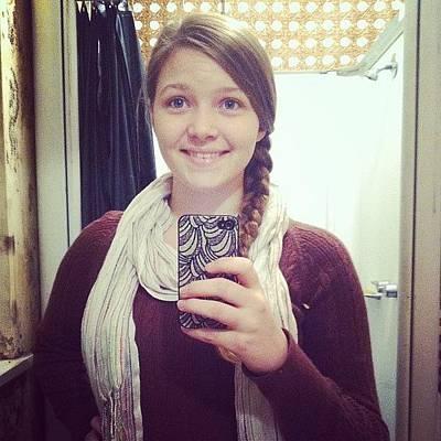 I Phone Photograph - Day 20: Scarf! #scarf #day #20 #decemer by Amanda Blume