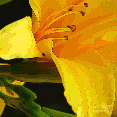 Digital Art - Day Lily Cameo One by Herb Paynter