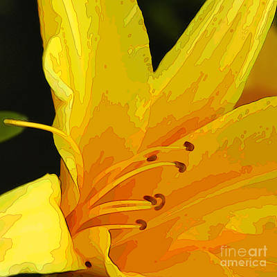 Digital Art - Day Lily Cameo Two by Herb Paynter