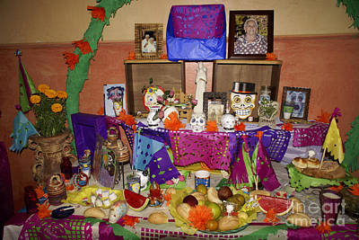 Farm Life Paintings Rob Moline - DAY OF THE DEAD ALTAR Mexico by John  Mitchell