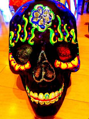 Dia De Los Muertos Photograph - Day Of The Dead Skull by Randall Weidner