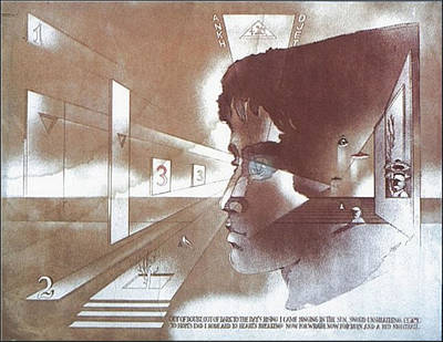 Drawing - Day-s Rising 1976 by Glenn Bautista